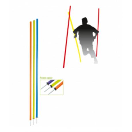 Lot de 5 piquets de slalom pointe acier